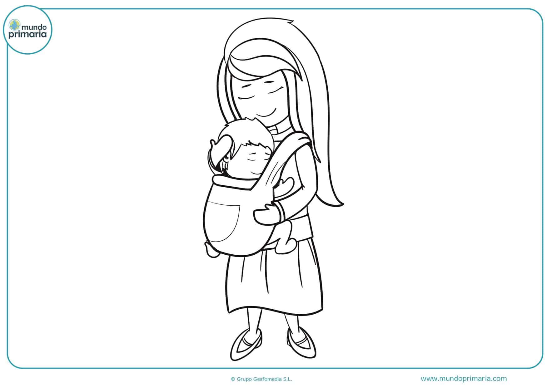 dibujos del día de la madre para colorear e imprimir