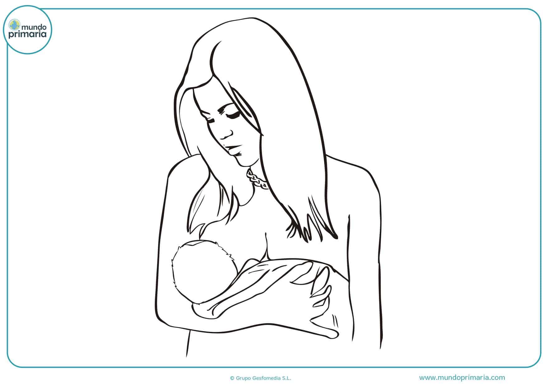 dibujos día de la madre para pintar