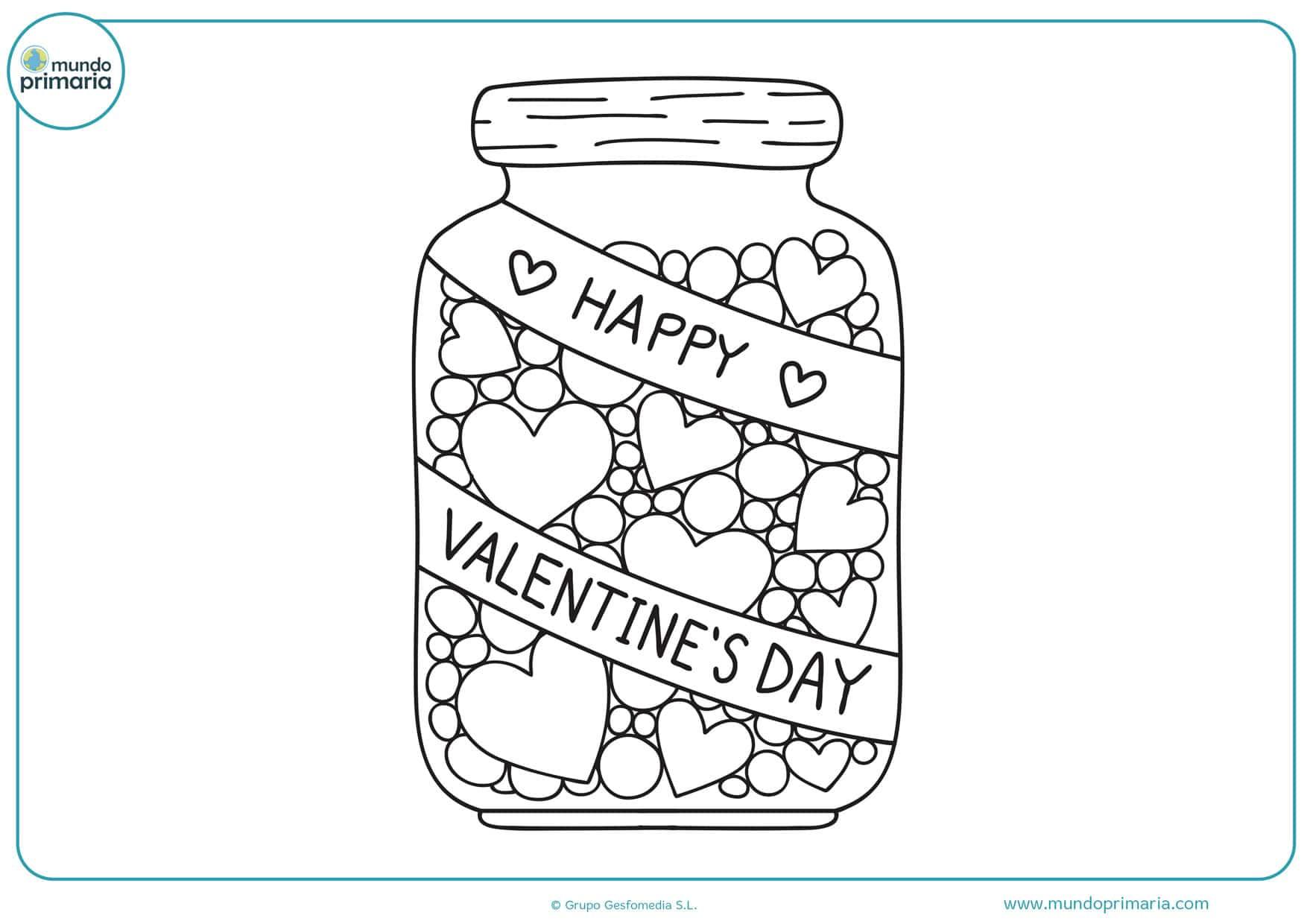 dibujos del día de san valentin para colorear