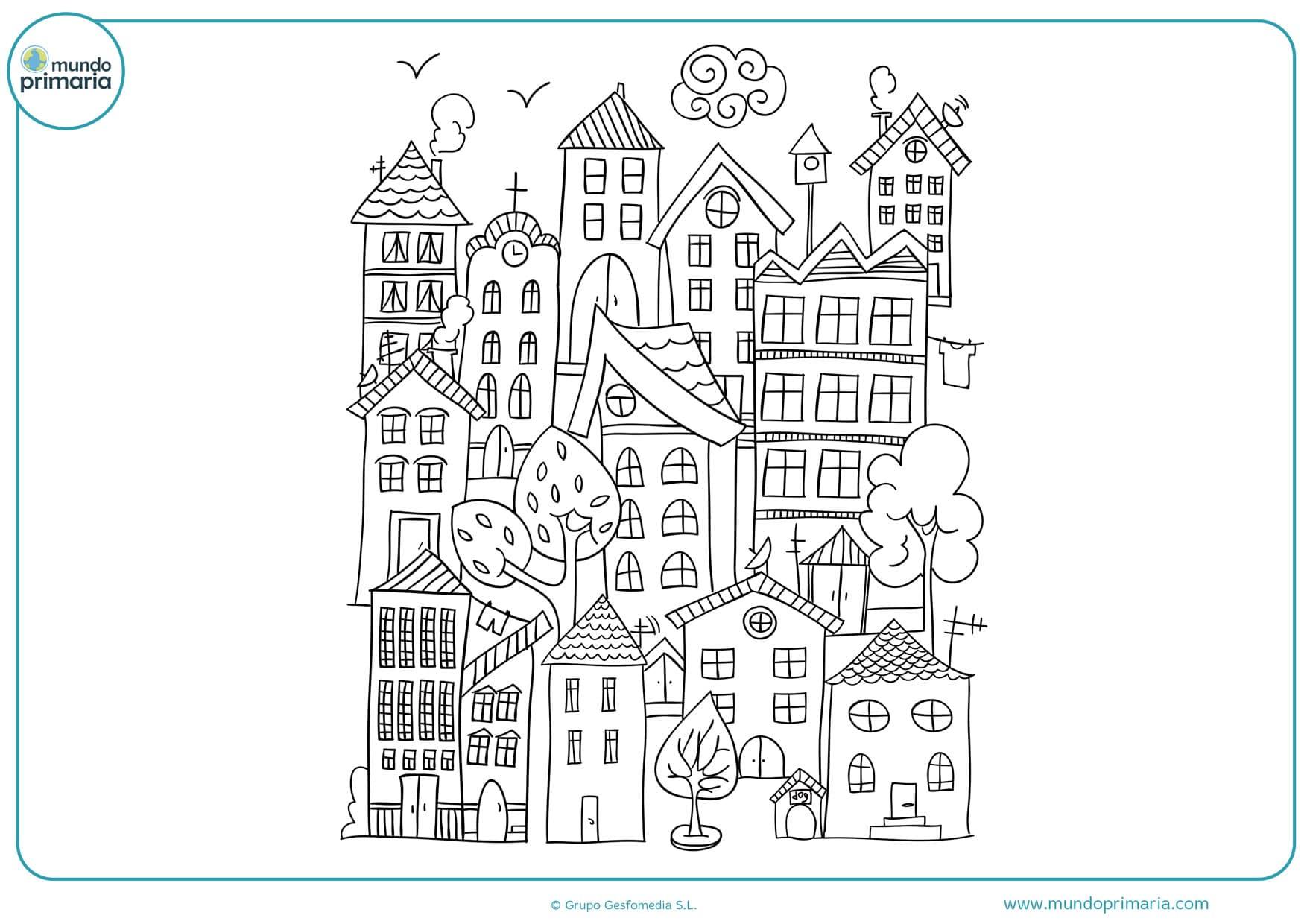 dibujos difíciles para colorear de paisajes