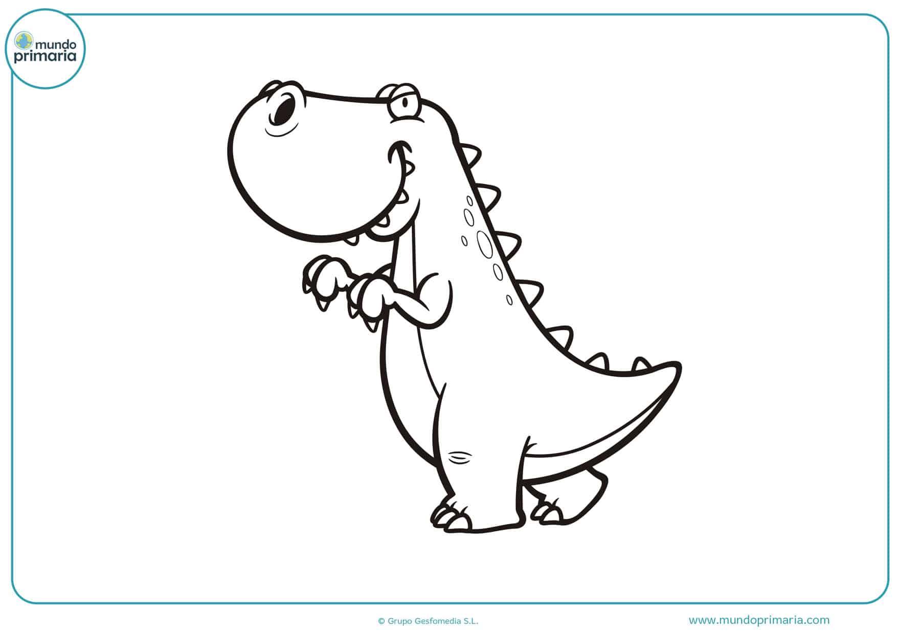 dibujos de dinosaurios bebes para colorear