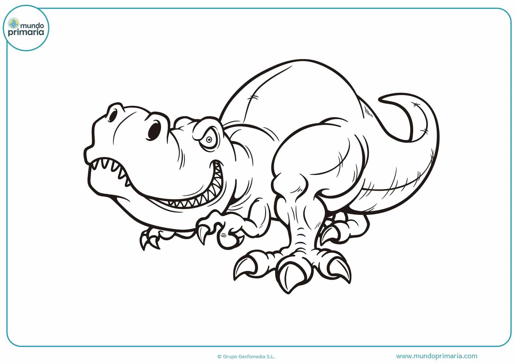 dibujos de dinosaurios para colorear en linea