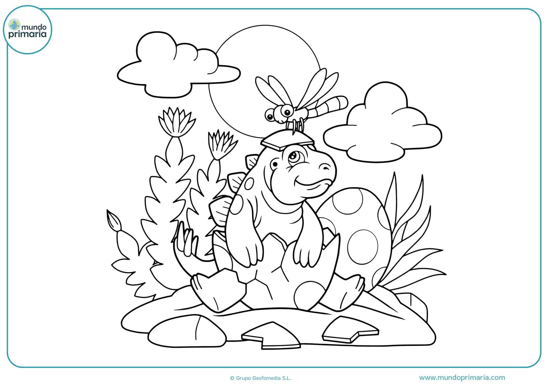 dibujos de dinosaurios para colorear para imprimir