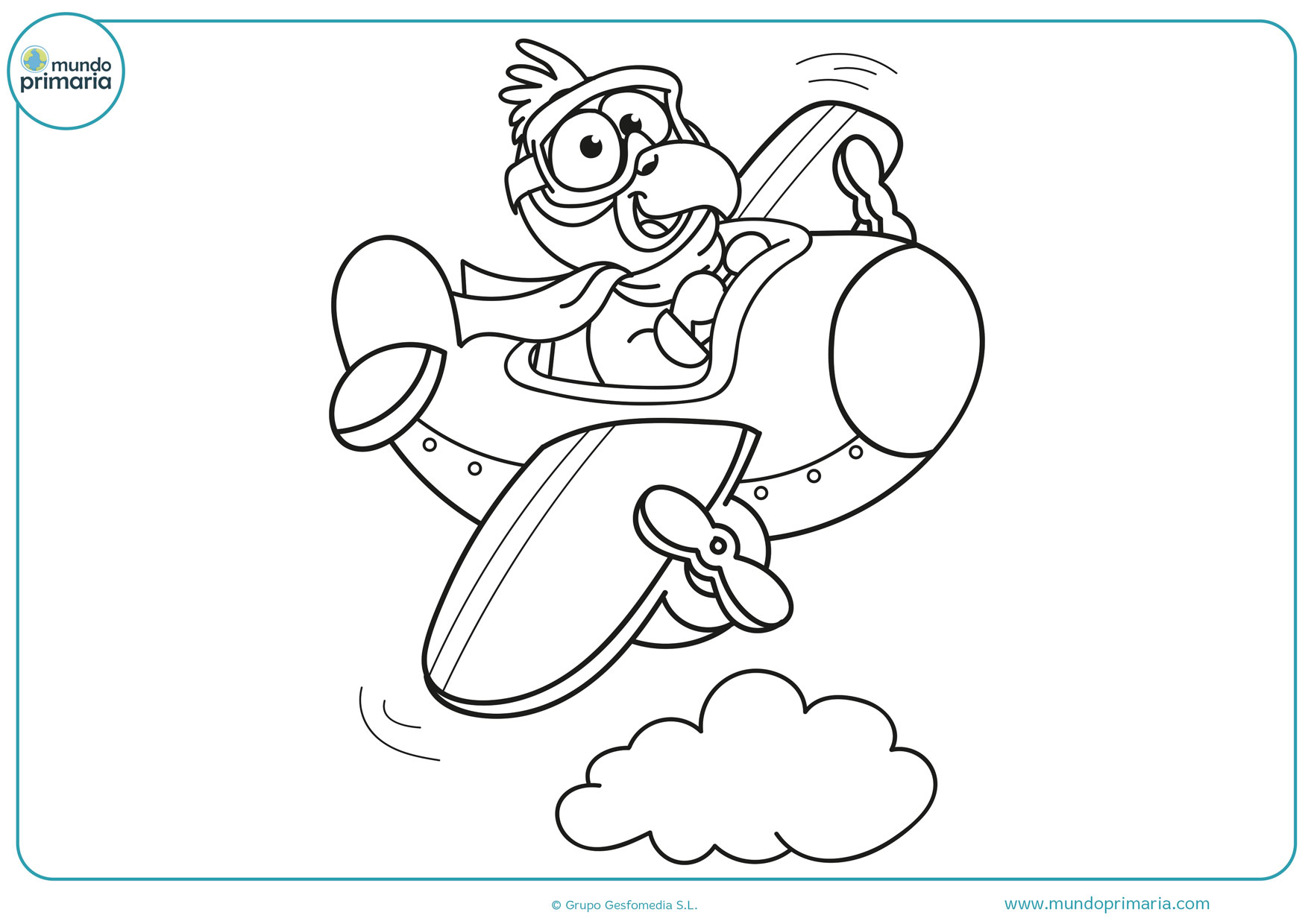 dibujos divertidos de aviones para pintar