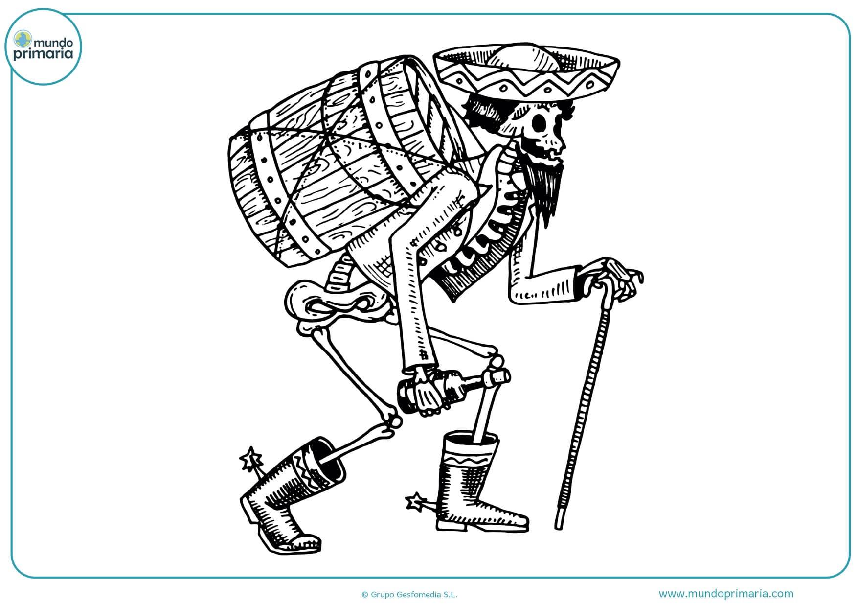 dibujos divertidos para imprimir del día de los muertos