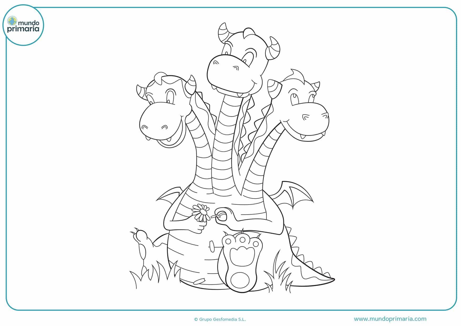 dibujos de dragones infantiles para colorear