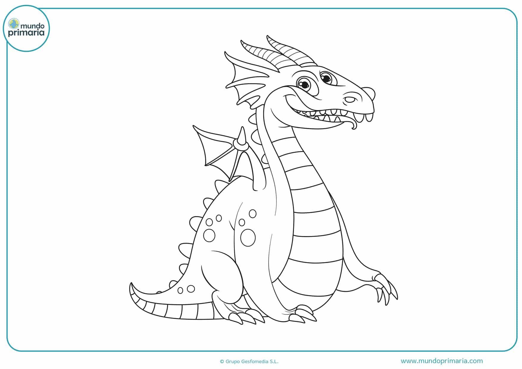 dibujos de dragones para colorear difíciles