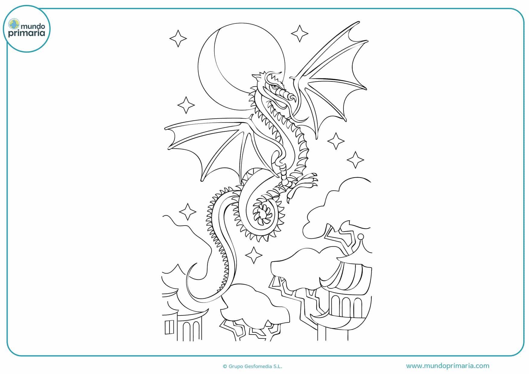 dibujos de dragones para colorear e imprimir