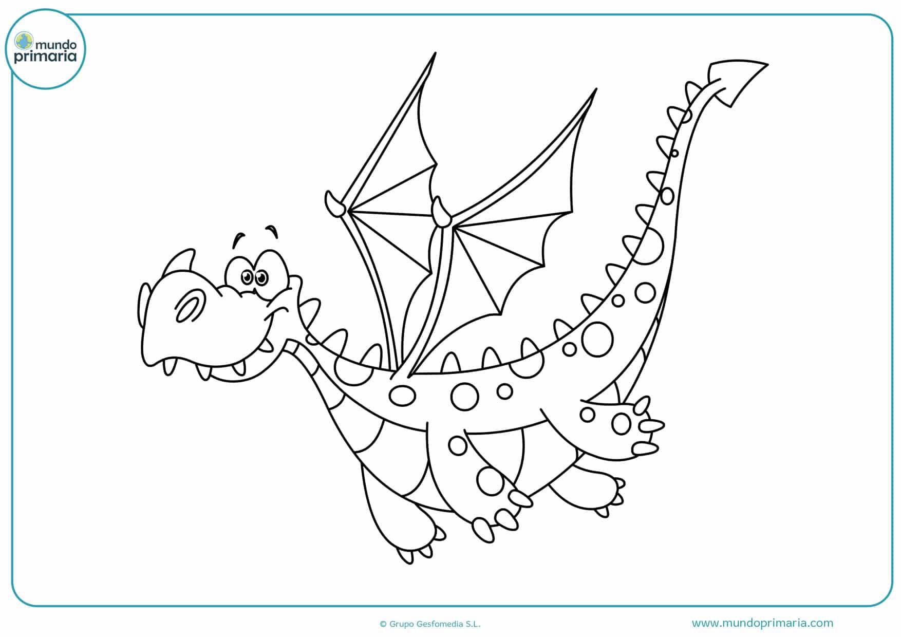 dibujos de dragones para imprimir y colorear