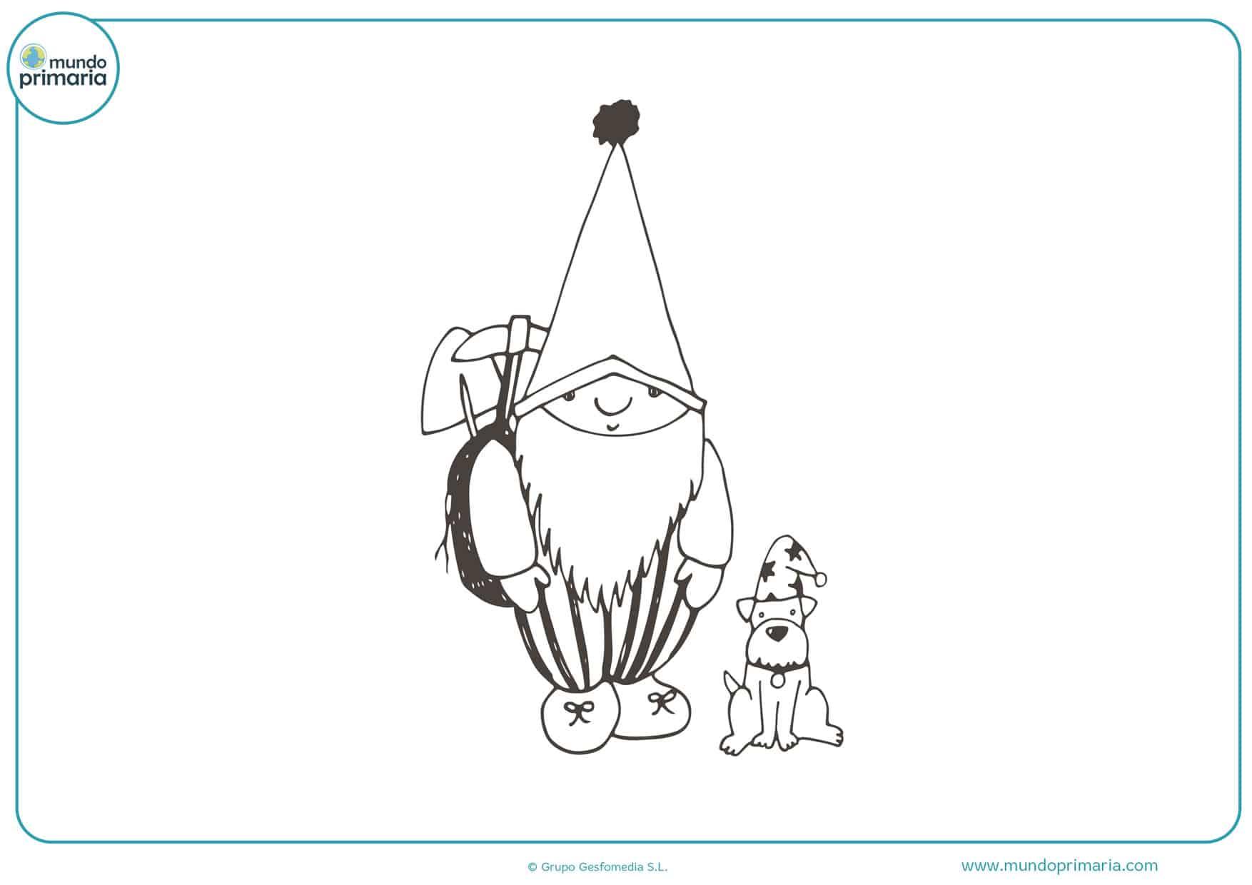 dibujos de duendes divertidos para colorear