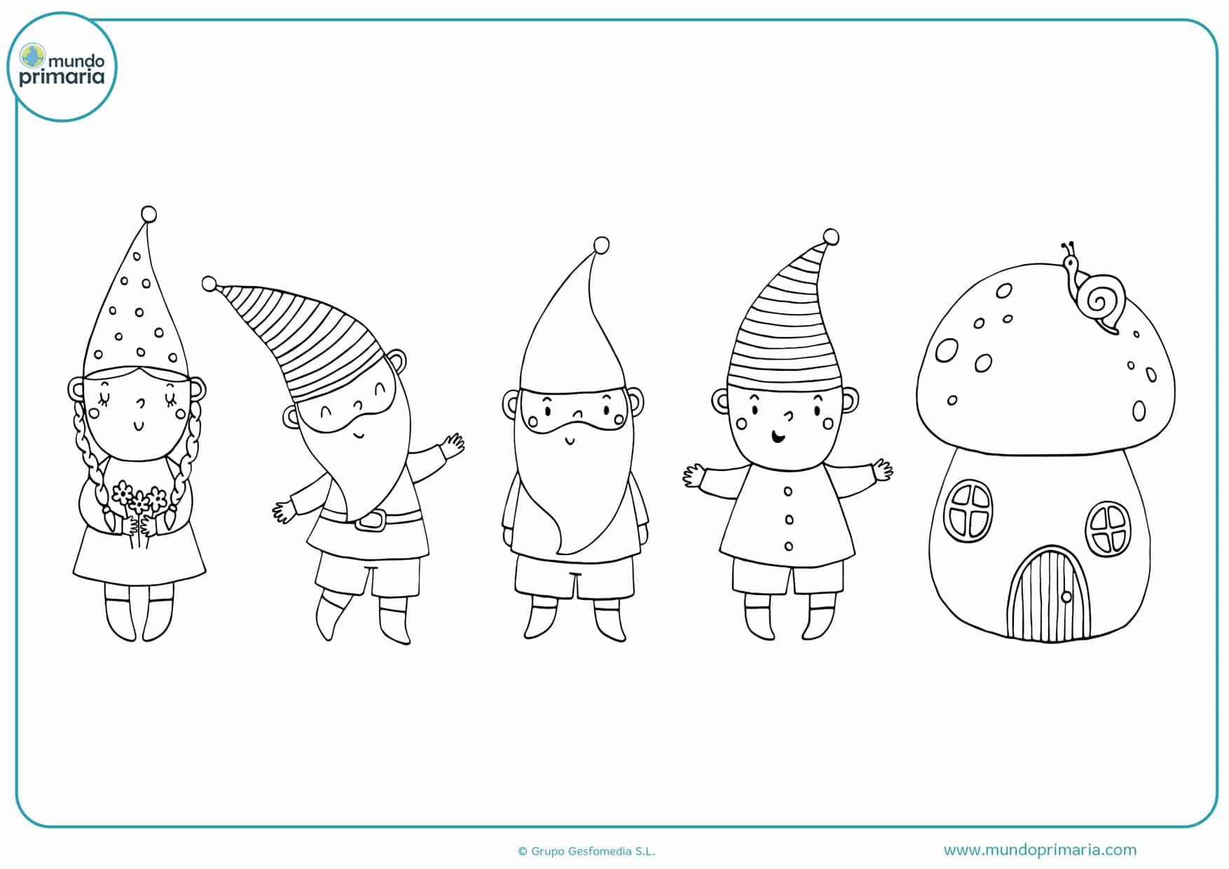 dibujos de duendes y hadas para colorear