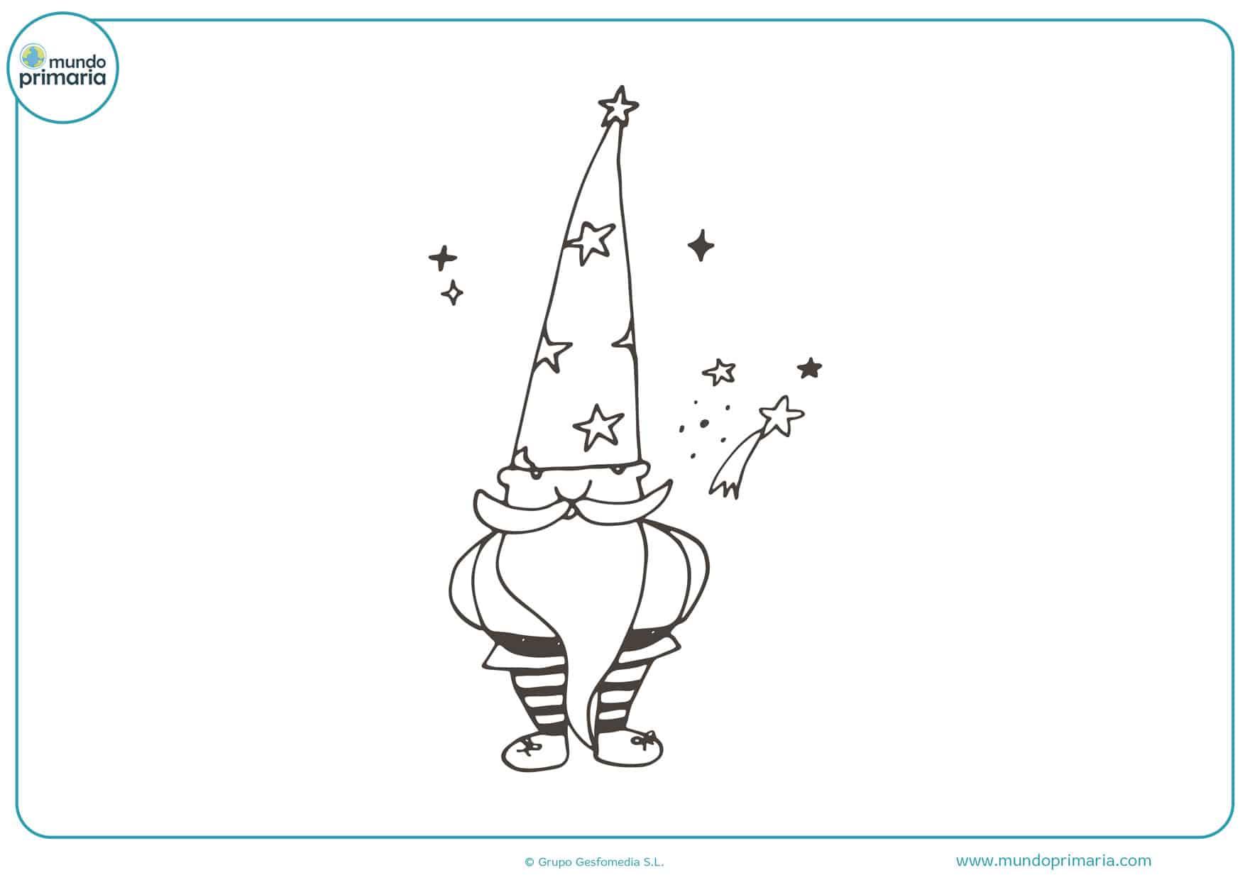dibujos de duendes infantiles divertidos para colorear