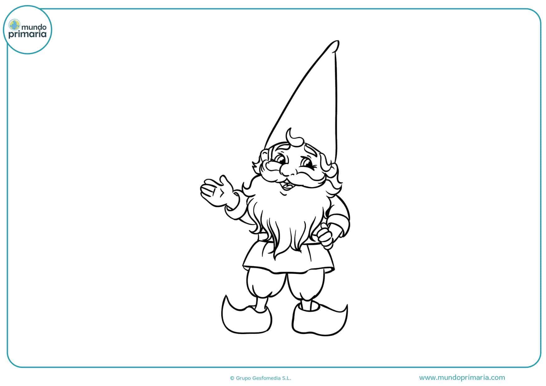 dibujos de duendes navideños para colorear
