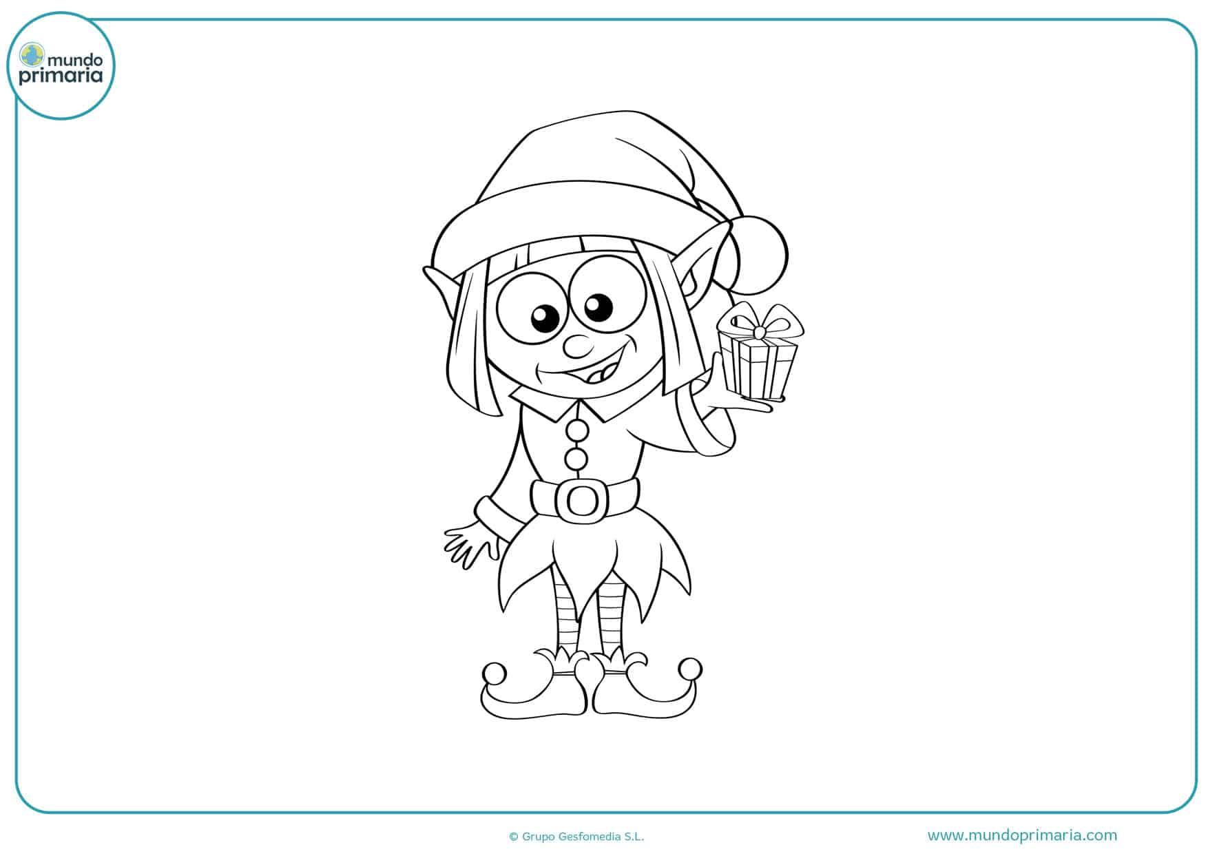 dibujos de duendes para colorear e imprimir