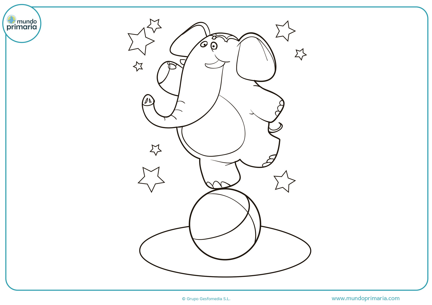 dibujos de elefantes para colorear gratis