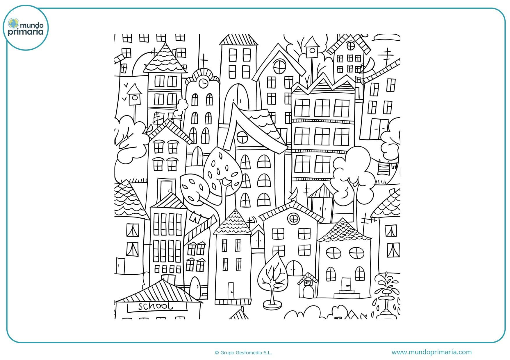 dibujos de fachadas de casas para colorear