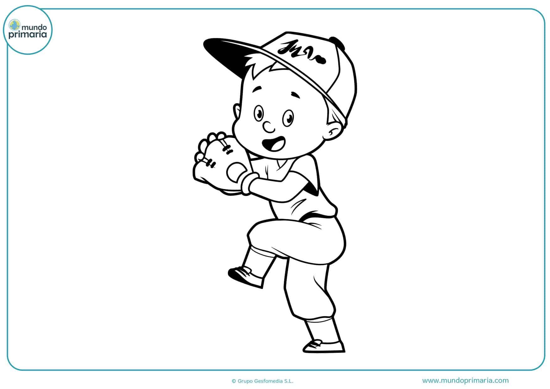 dibujos fáciles de béisbol para colorear