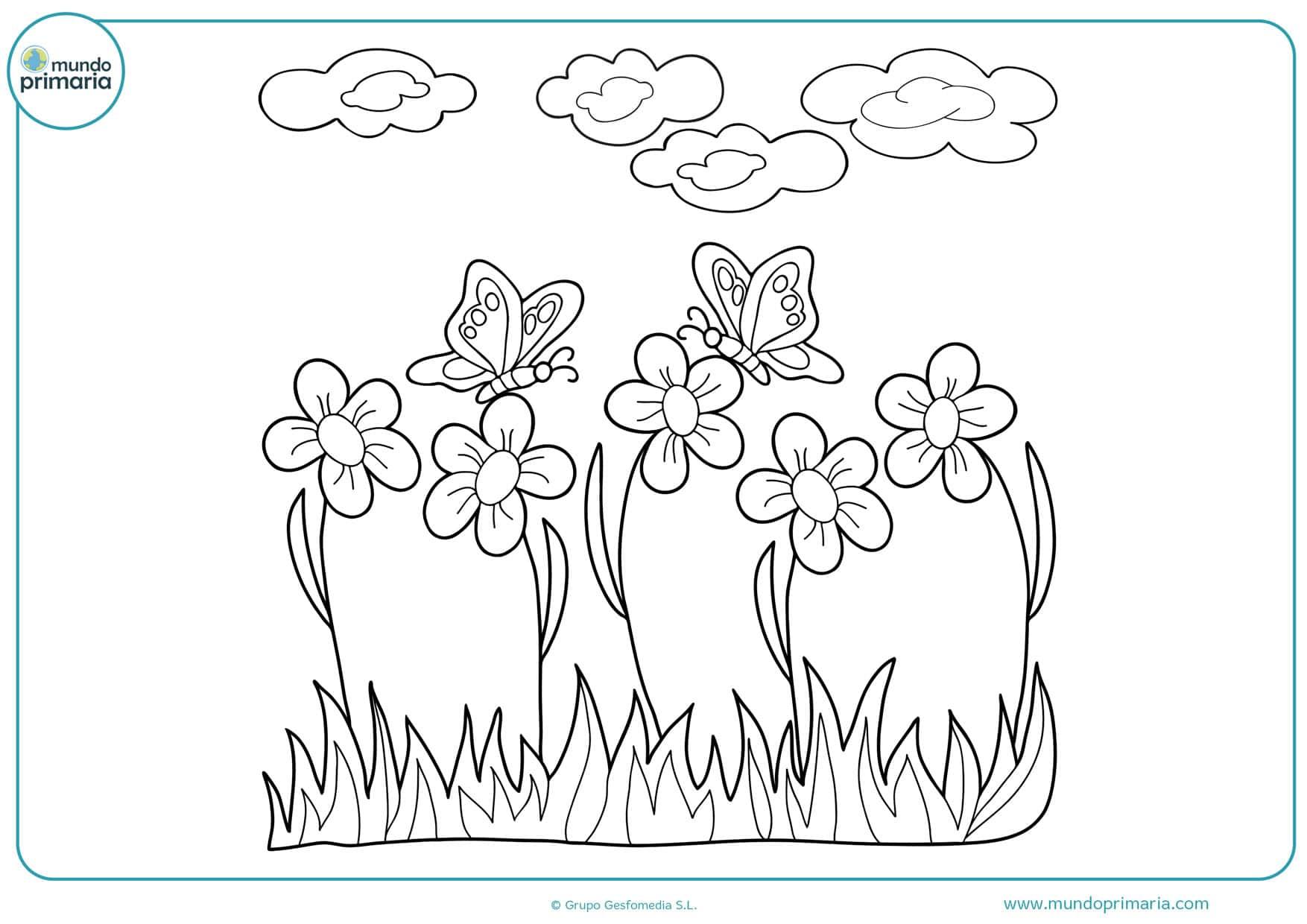 dibujos de flores para colorear difíciles