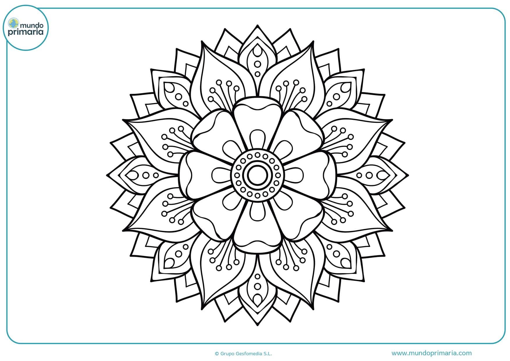 dibujos de flores para colorear e imprimir