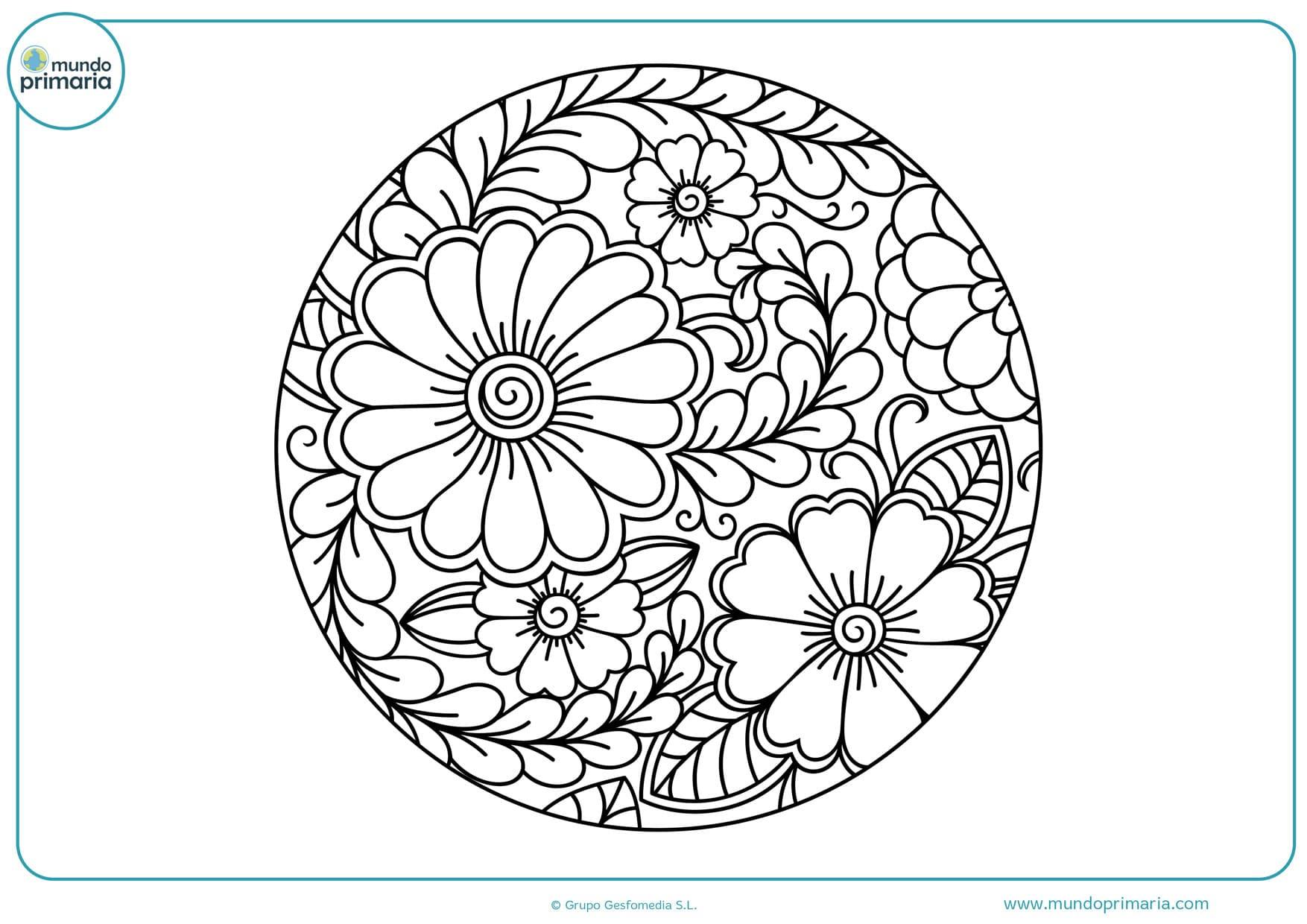 dibujos de flores para colorear y pintar