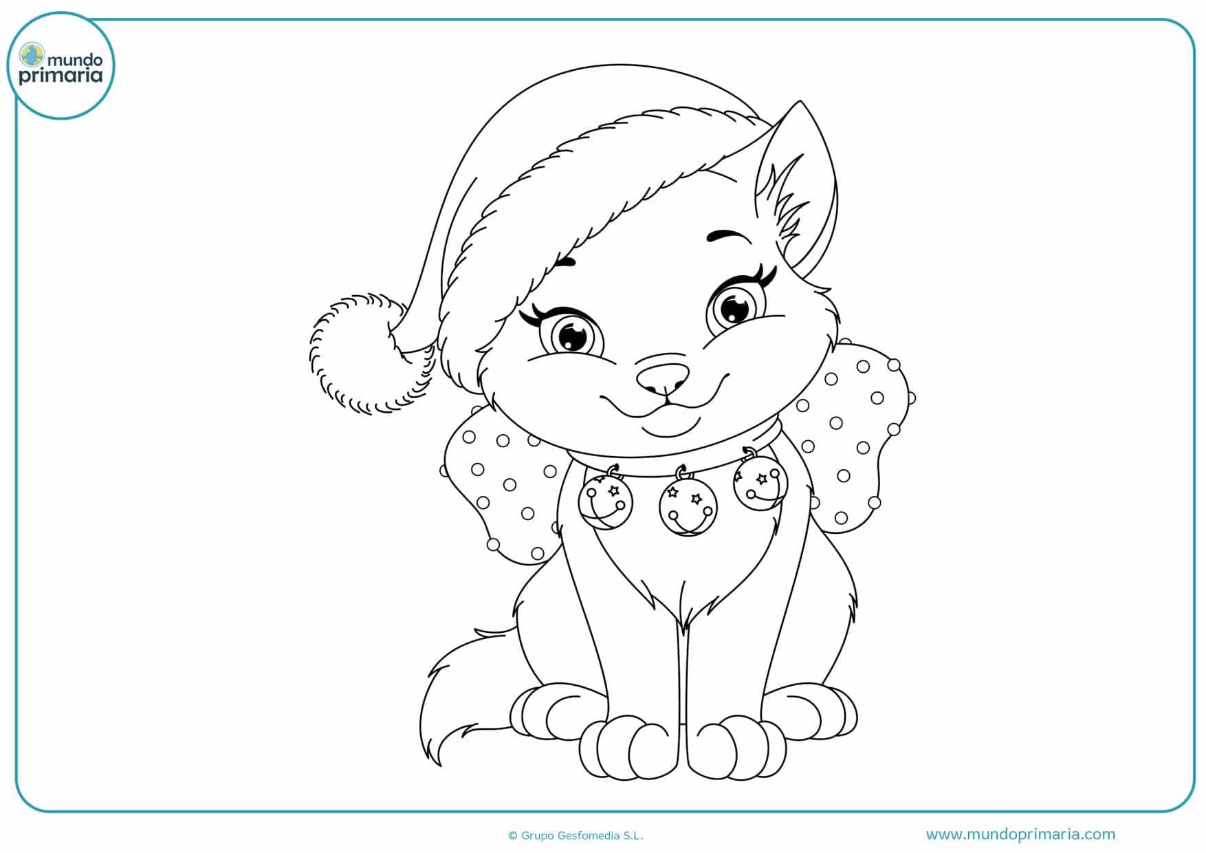 dibujos de gatos para colorear y imprimir