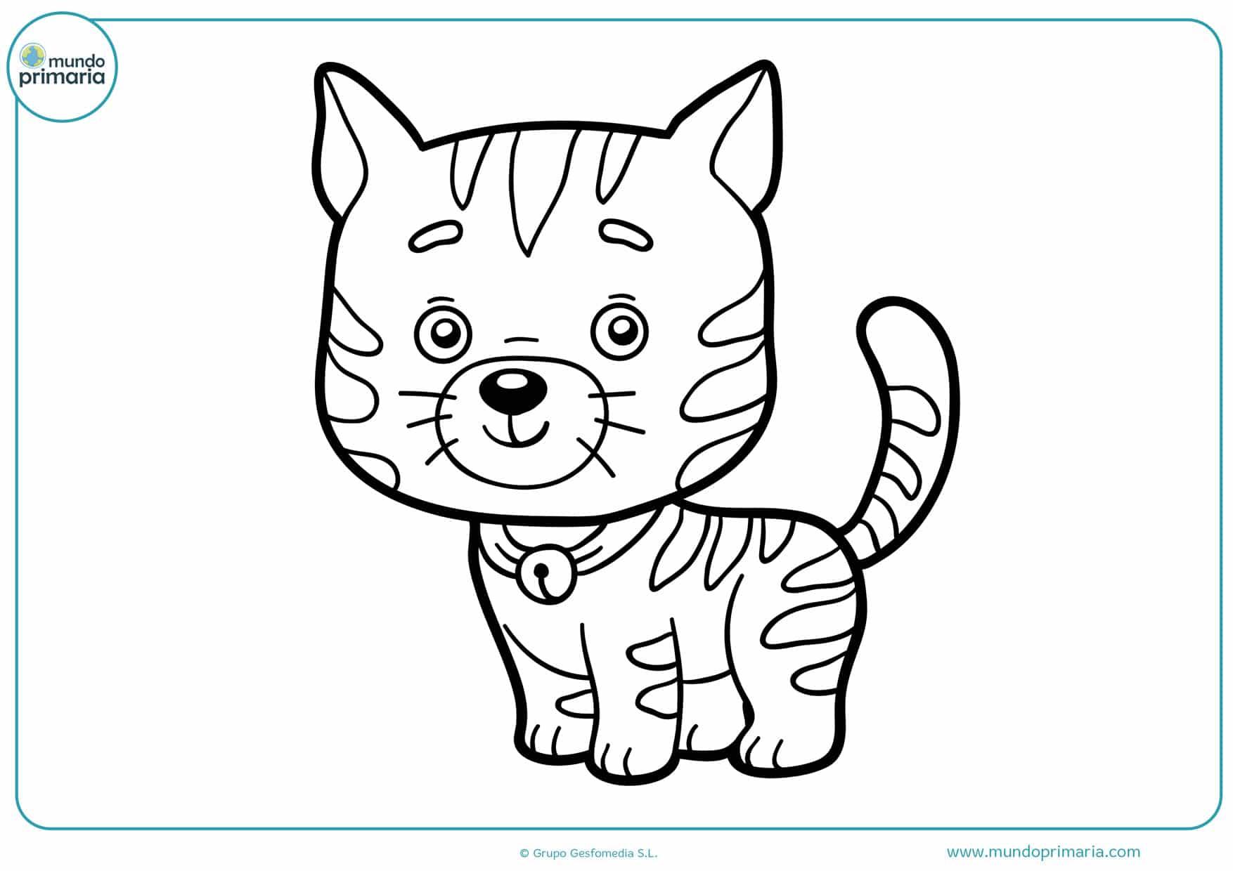 dibujos de gatos fáciles para colorear