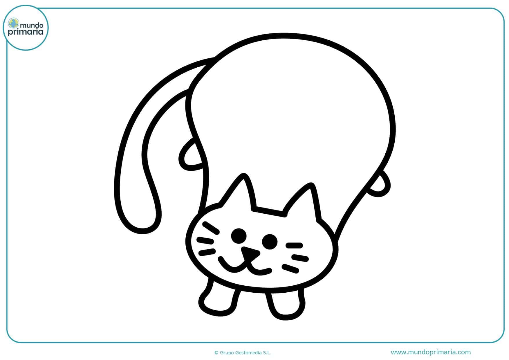 dibujos de gatos gordos para colorear