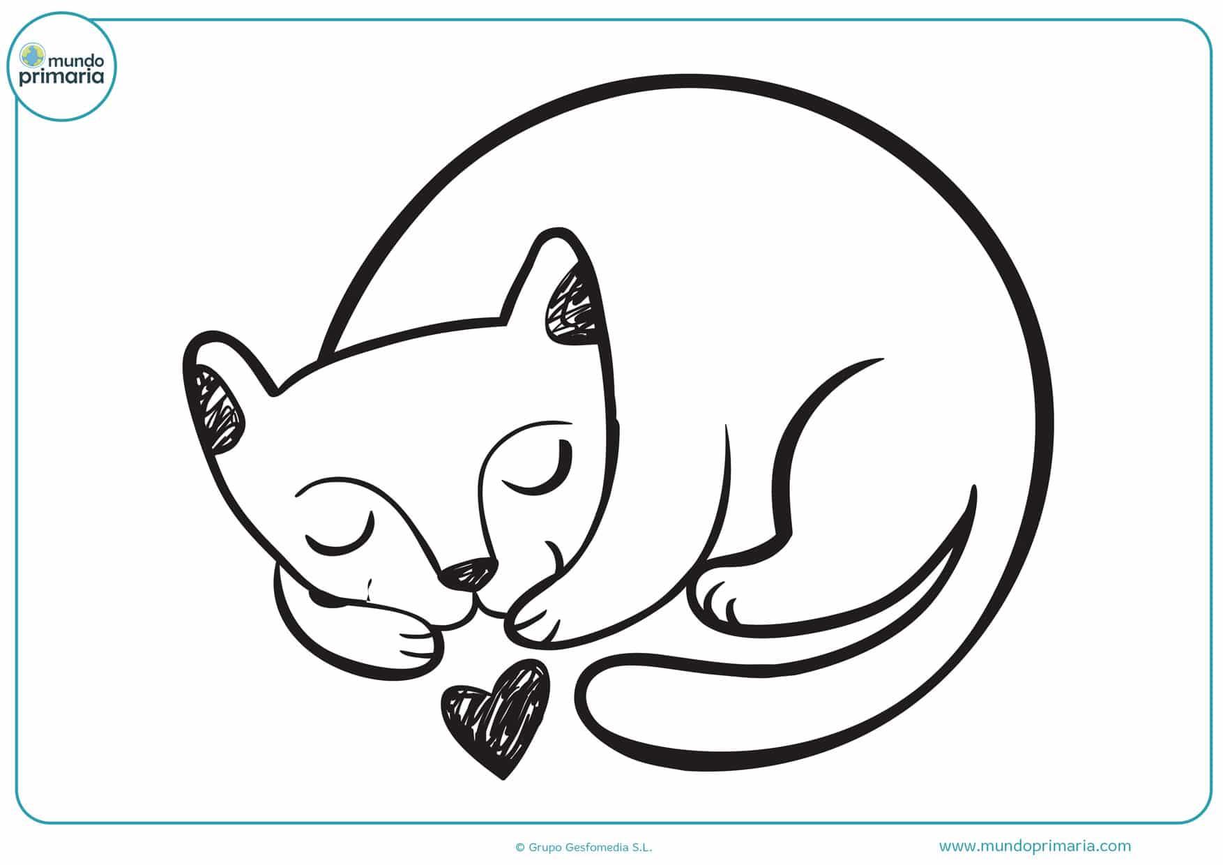 dibujos de gatos para imprimir y colorear