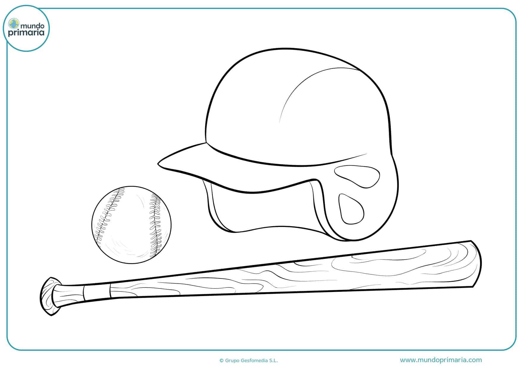 dibujos de gorras de béisbol para colorear