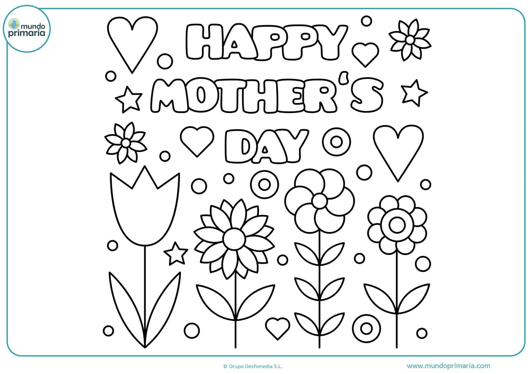 dibujos del gran día de la madre para pintar