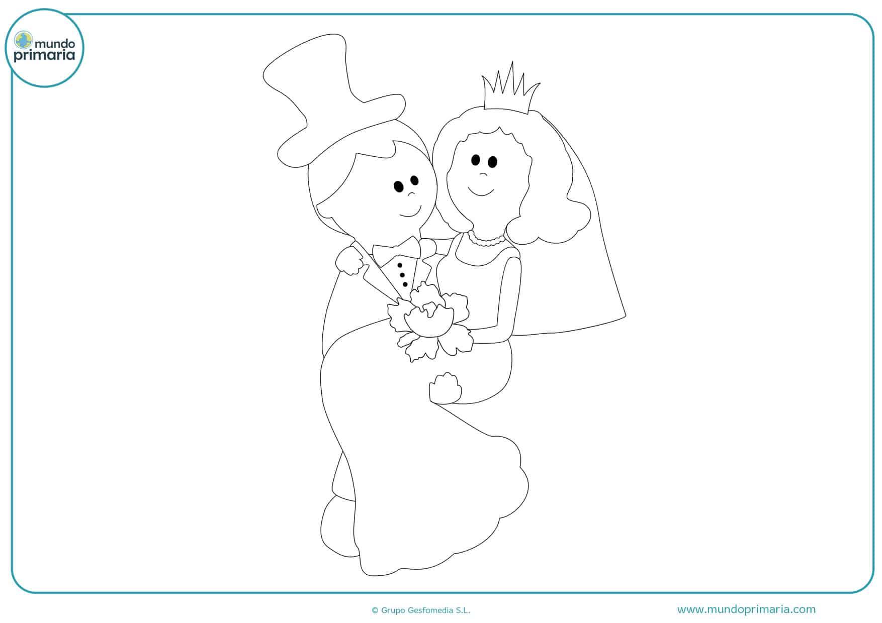 dibujos gratis de bodas para imprimir y colorear