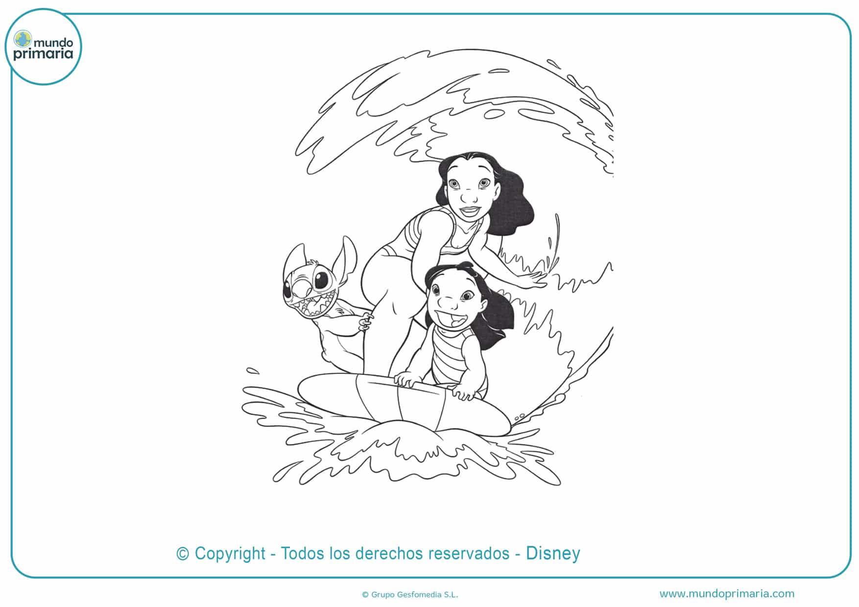 dibujos gratis de stitch para colorear
