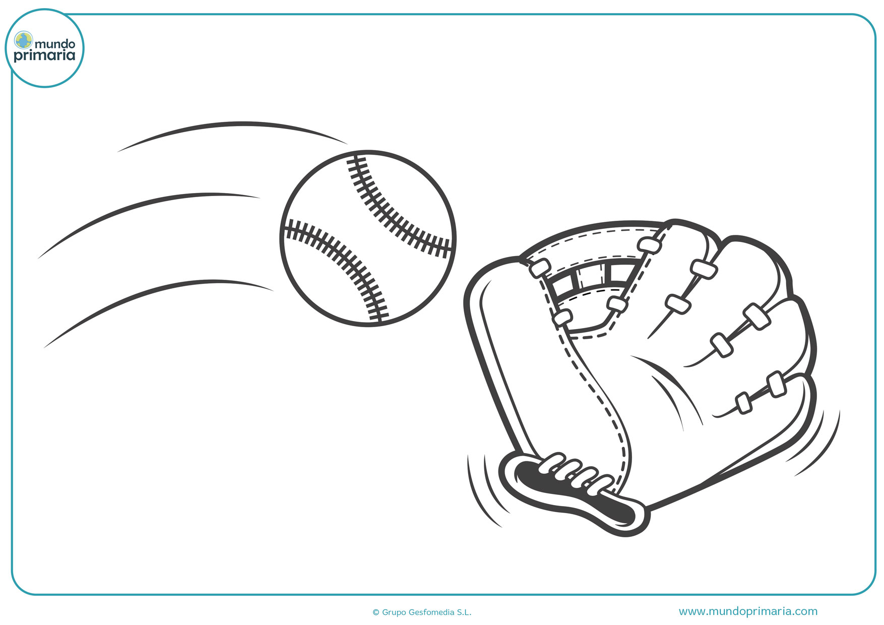 dibujos de guantes de béisbol para colorear