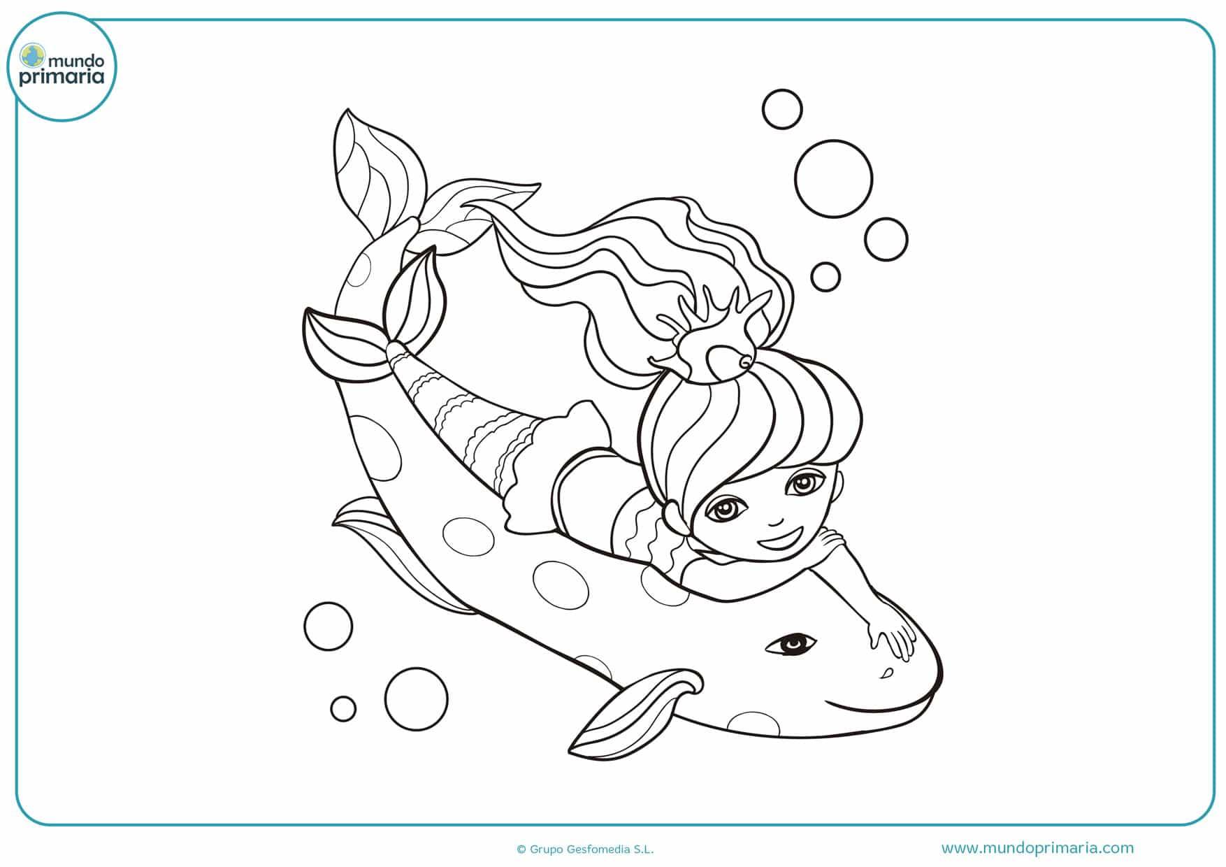 dibujos de h2o sirenas del mar para colorear