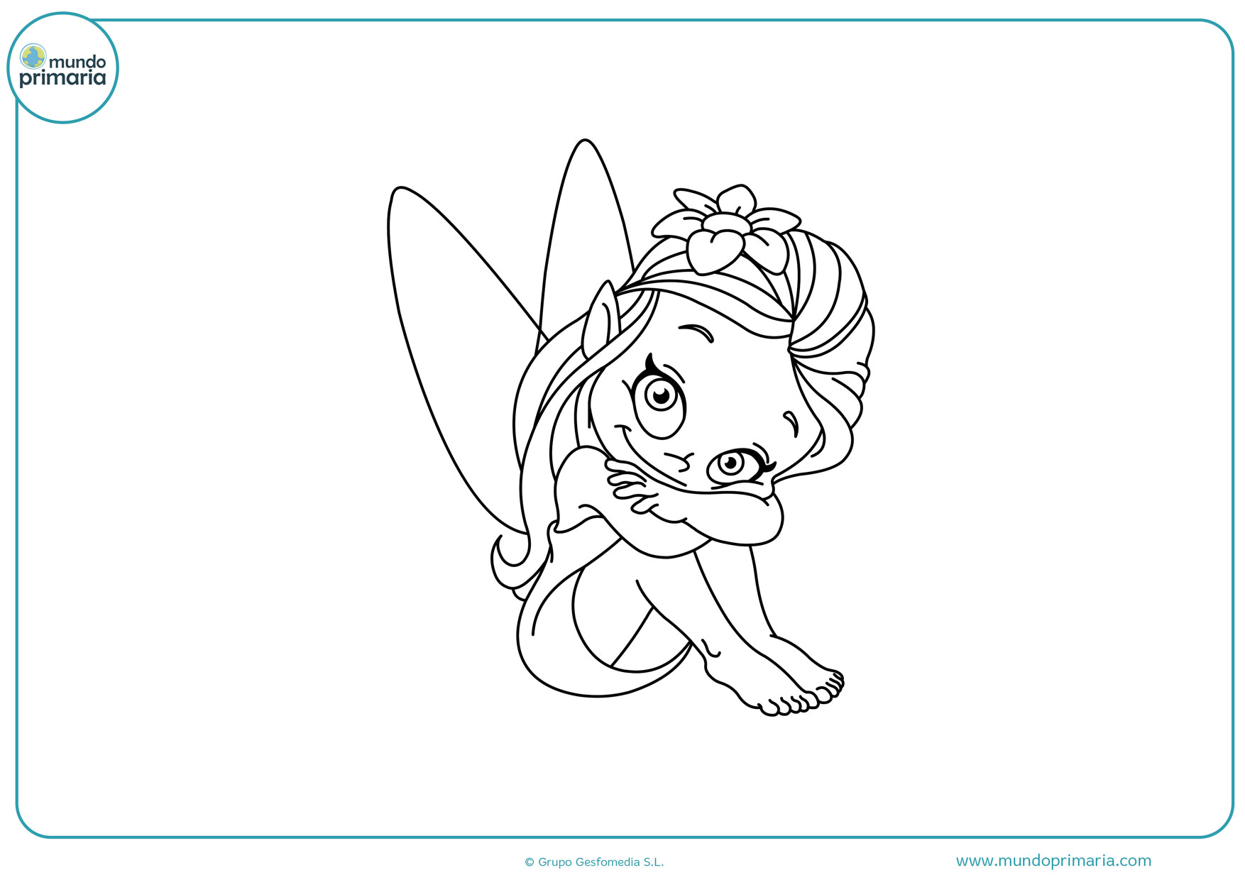 dibujos de hadas y duendes para colorear