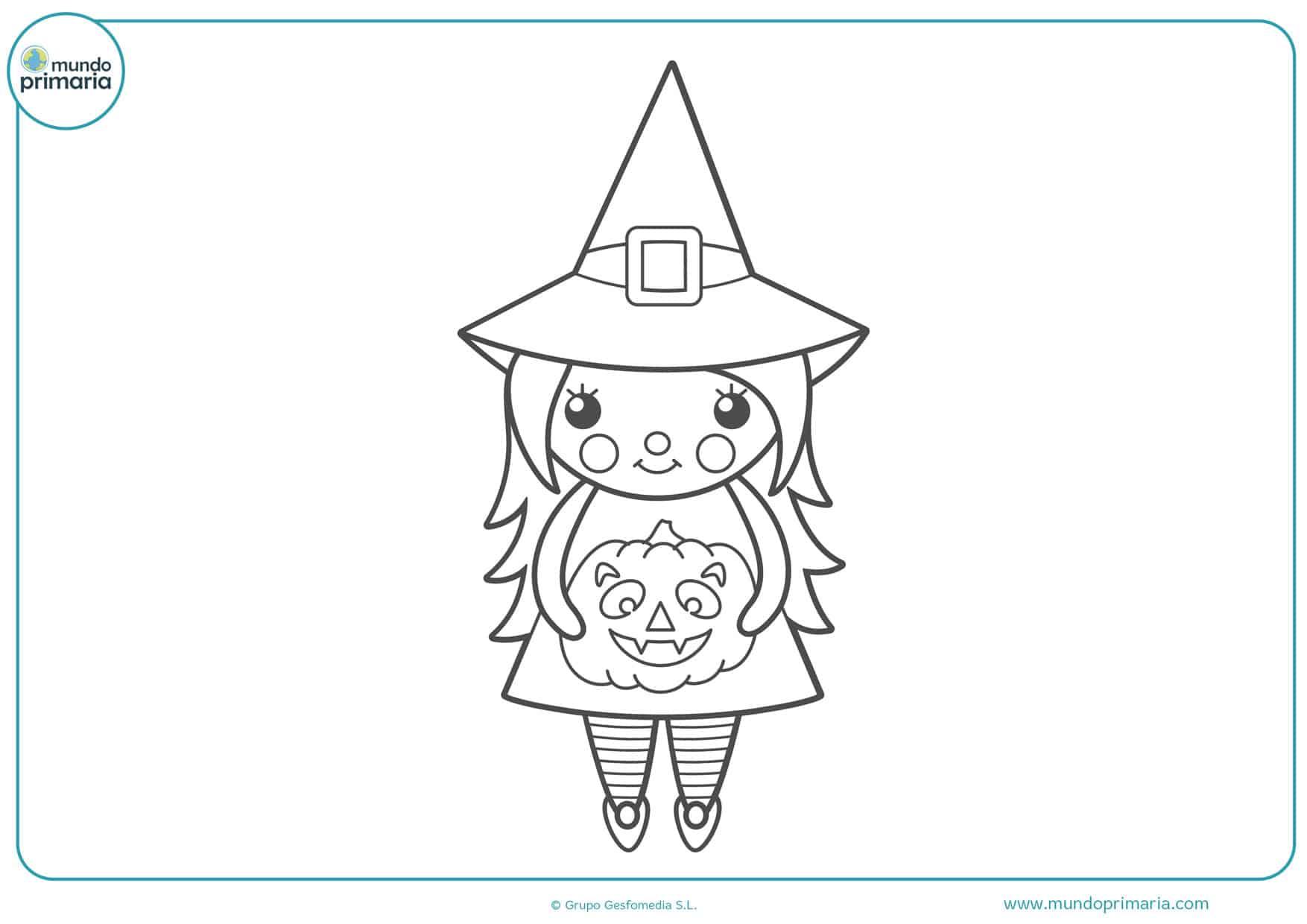 dibujos de halloween para colorear brujas