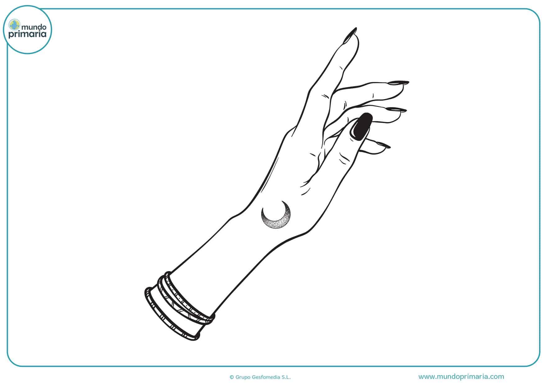 dibujos para imprimir y colorear de manos