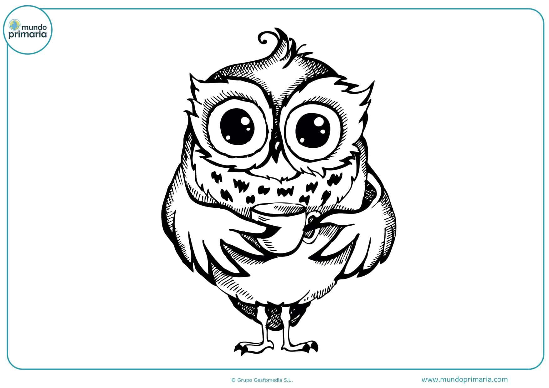 dibujos infantiles de búhos para colorear