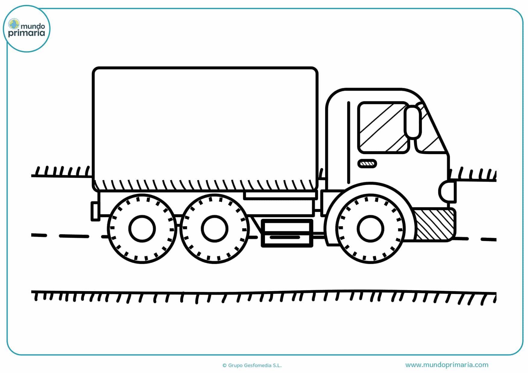 dibujos infantiles de camiones para colorear