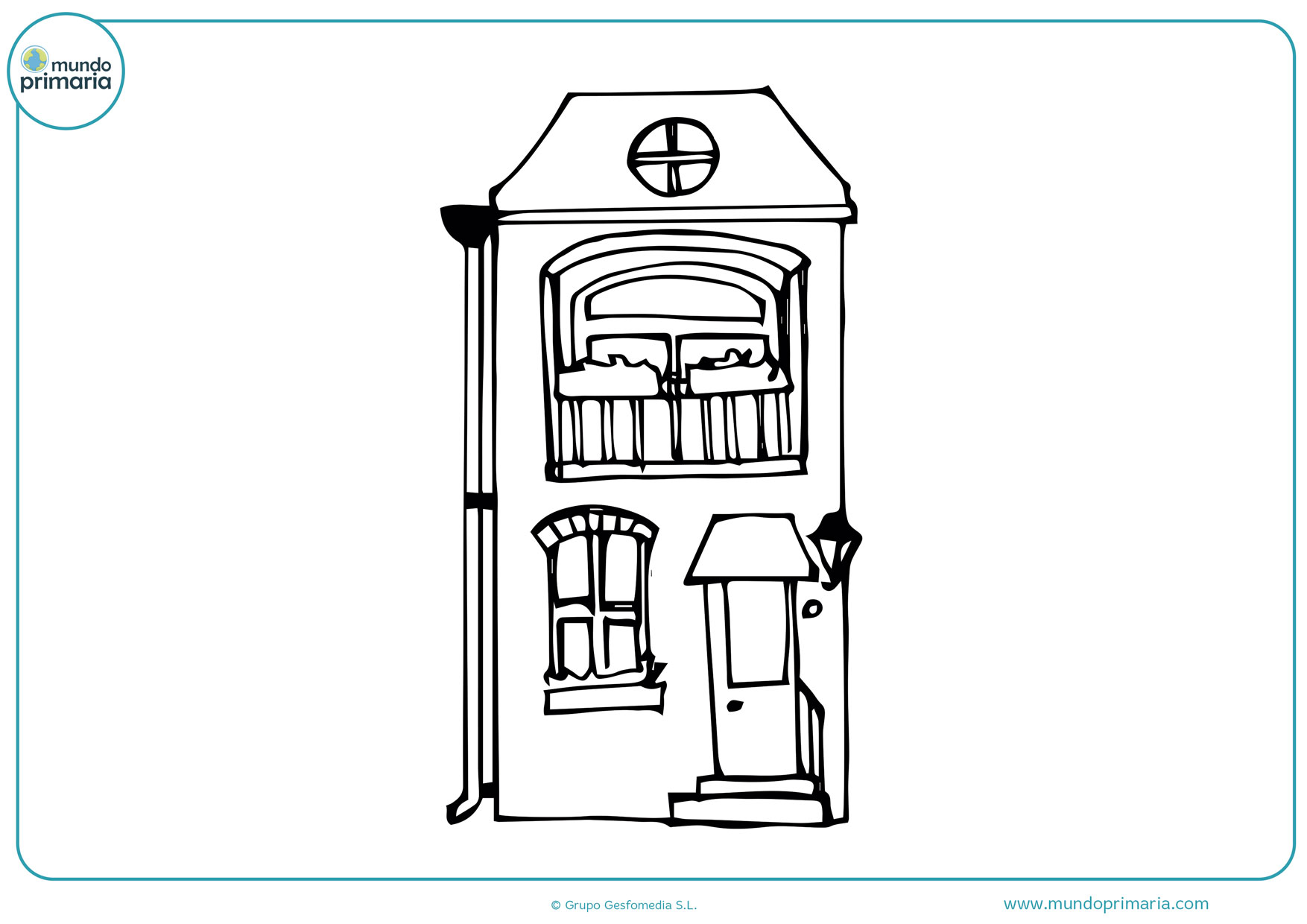 dibujos infantiles de casas para colorear