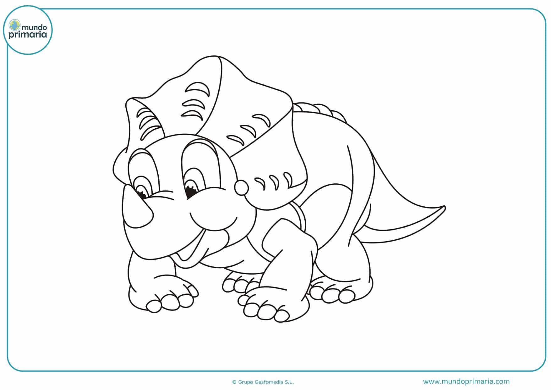 dibujos infantiles de dinosaurios para imprimir y colorear
