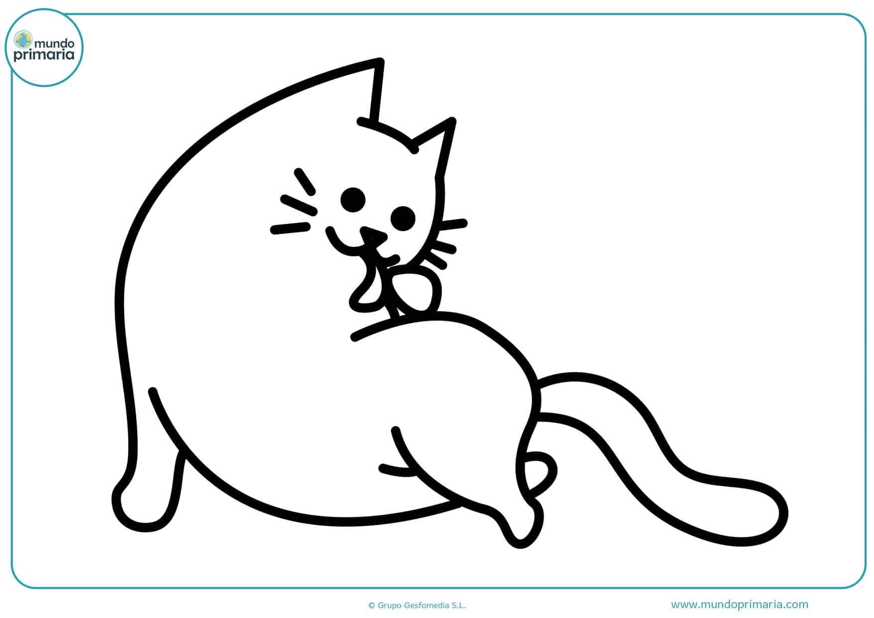 dibujos infantiles de gatos para colorear