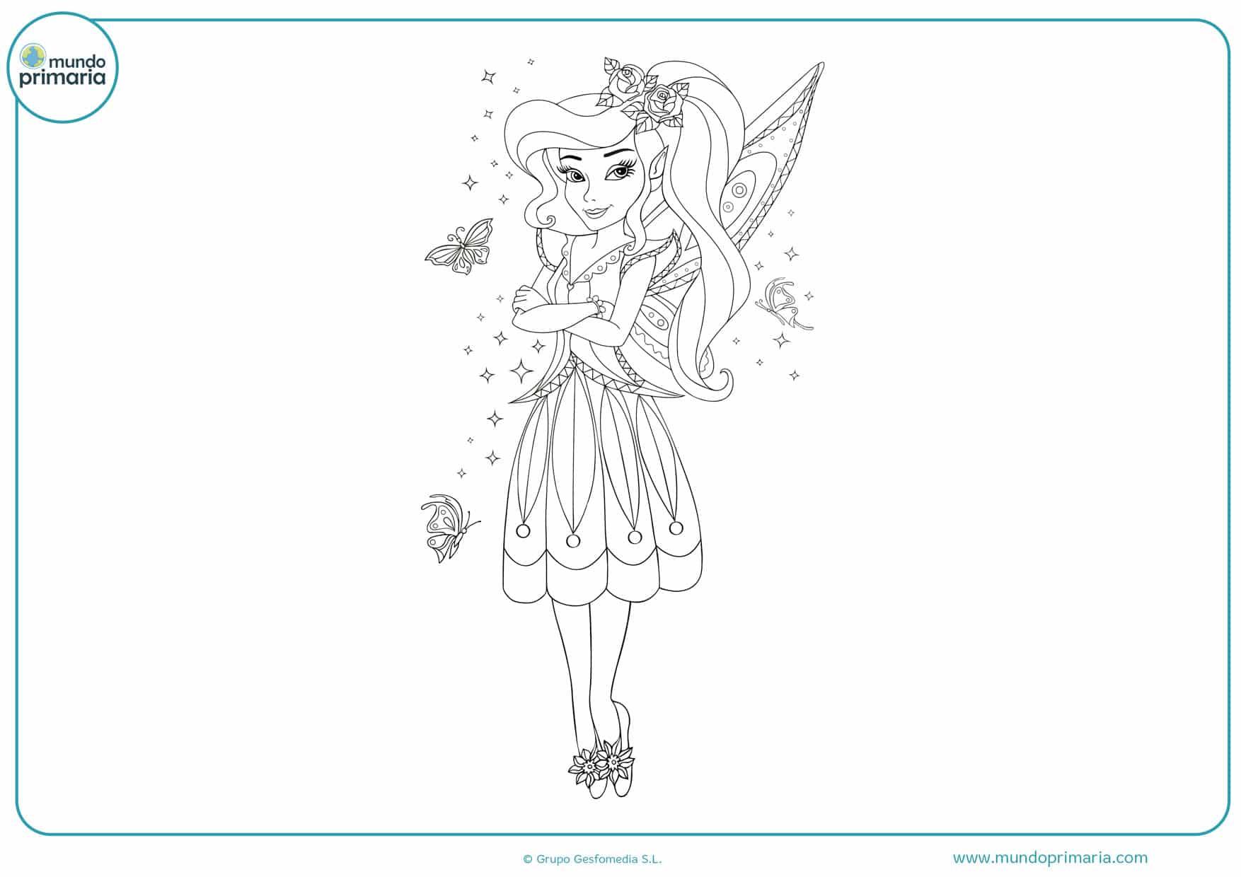 dibujos infantiles de hadas para colorear e imprimir
