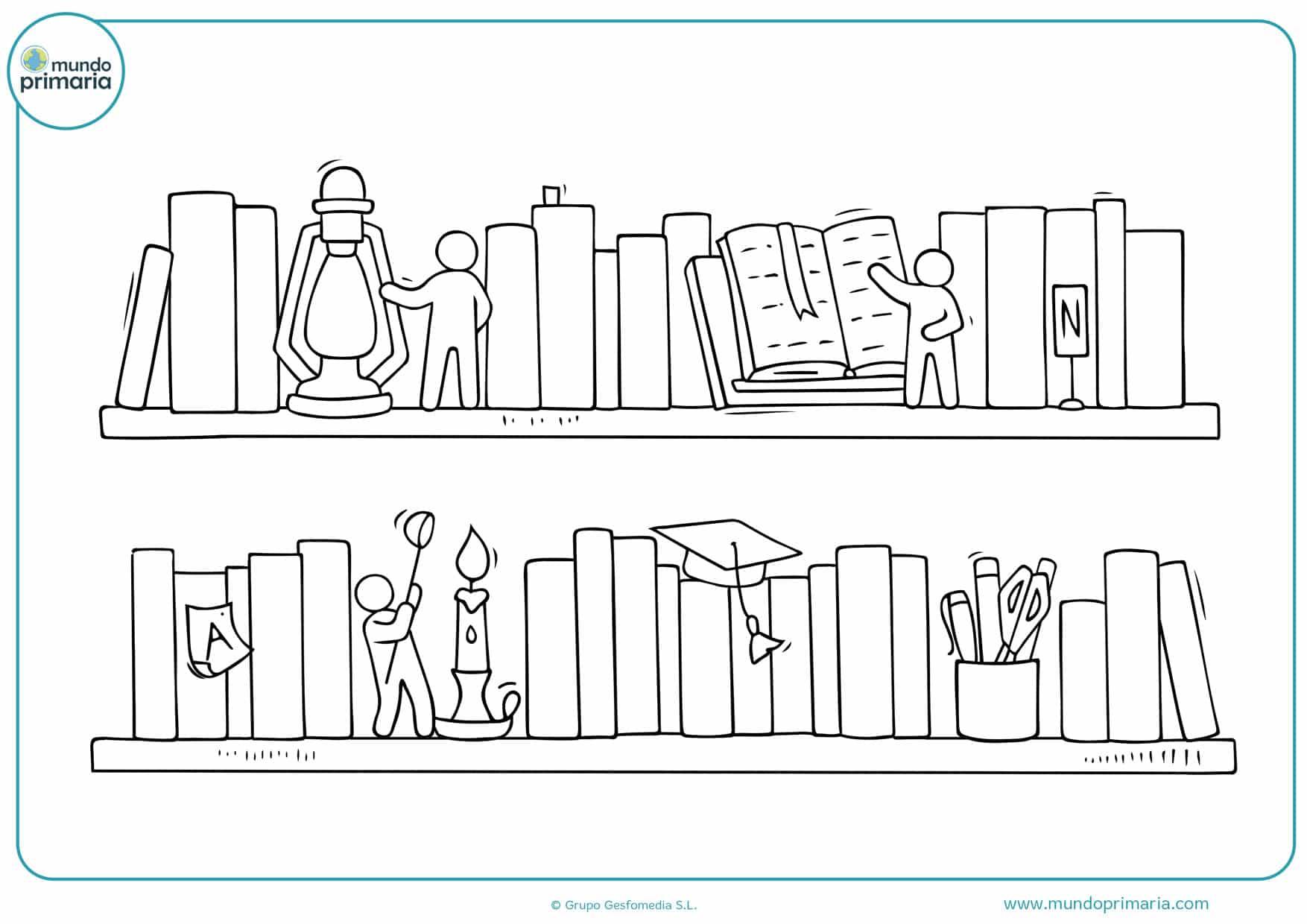 dibujos infantiles de libros para colorear