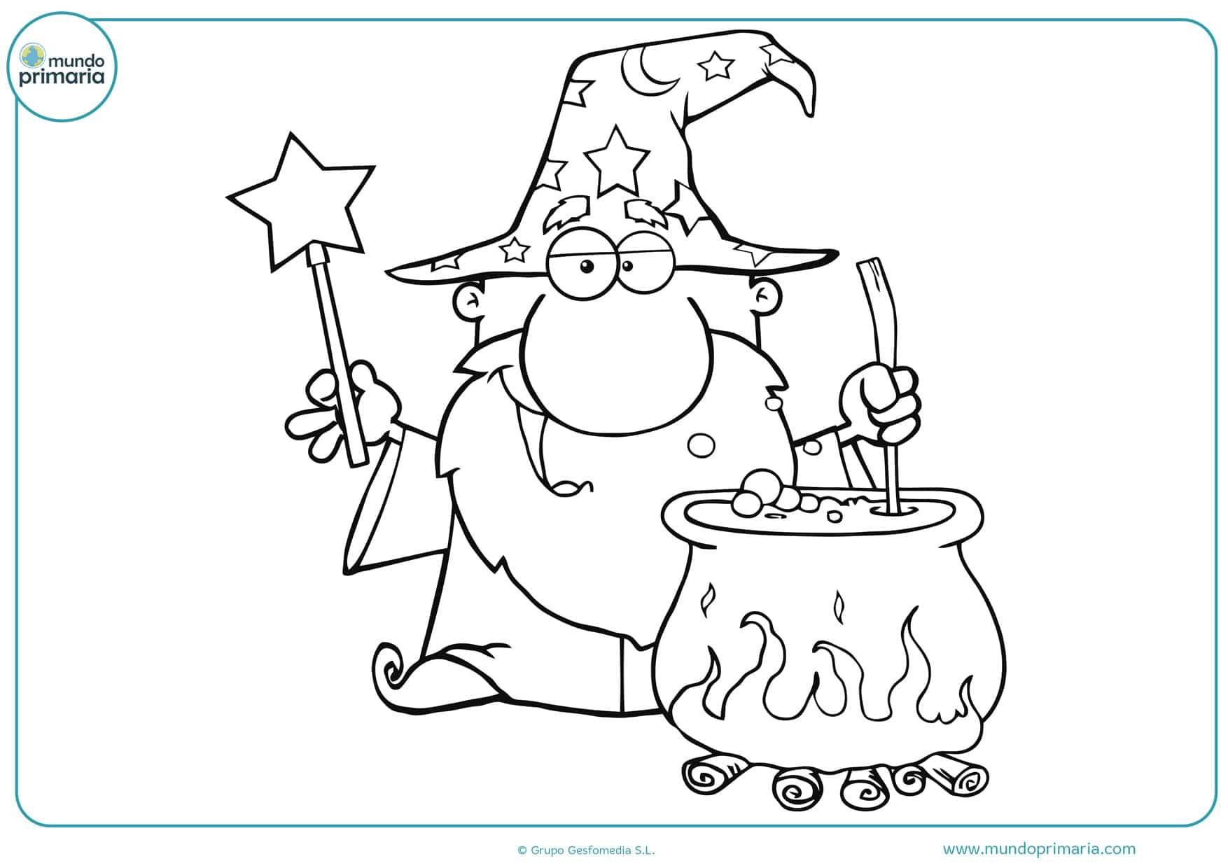 dibujos infantiles de magos para colorear