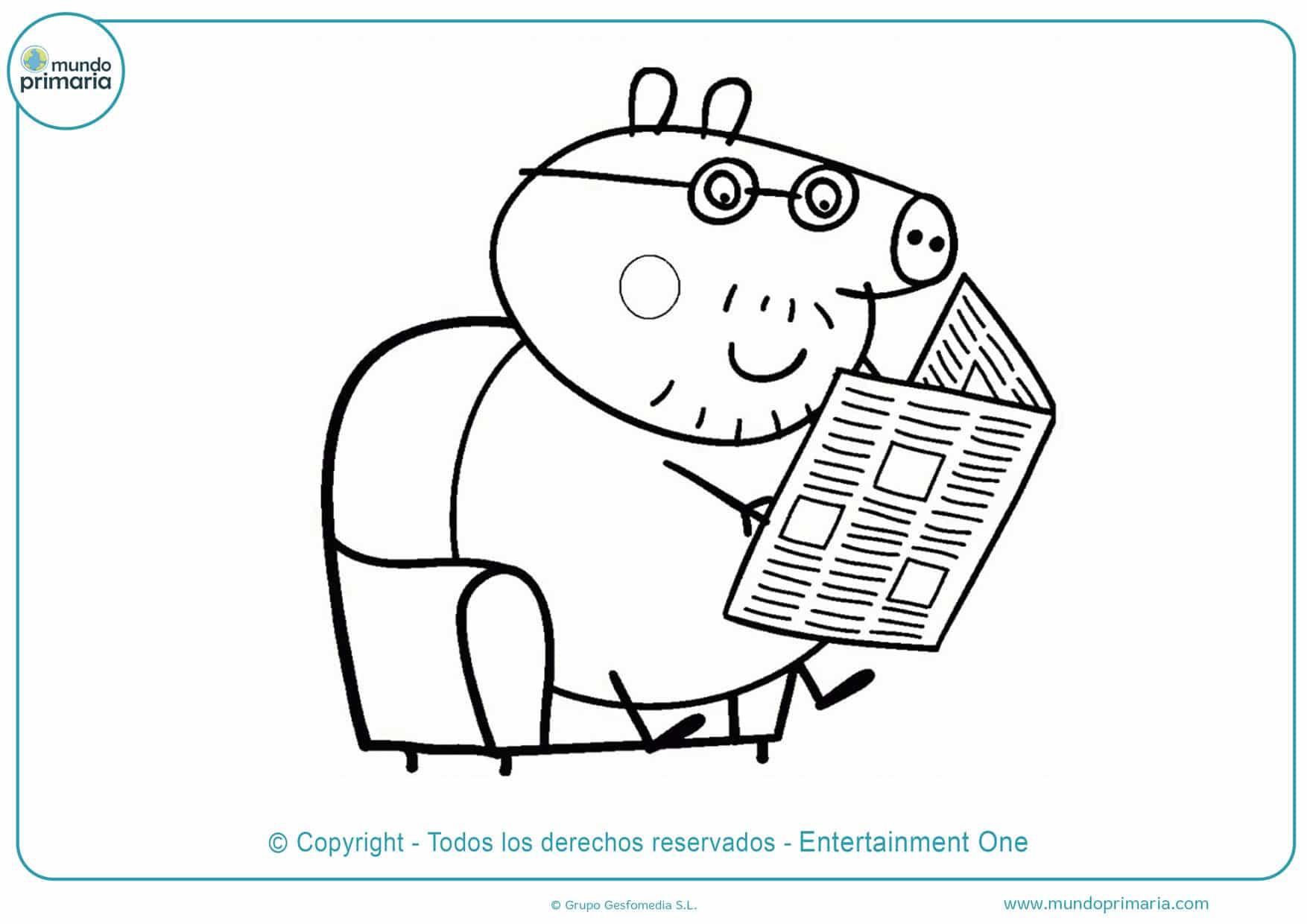 dibujos infantiles para colorear de peppa pig