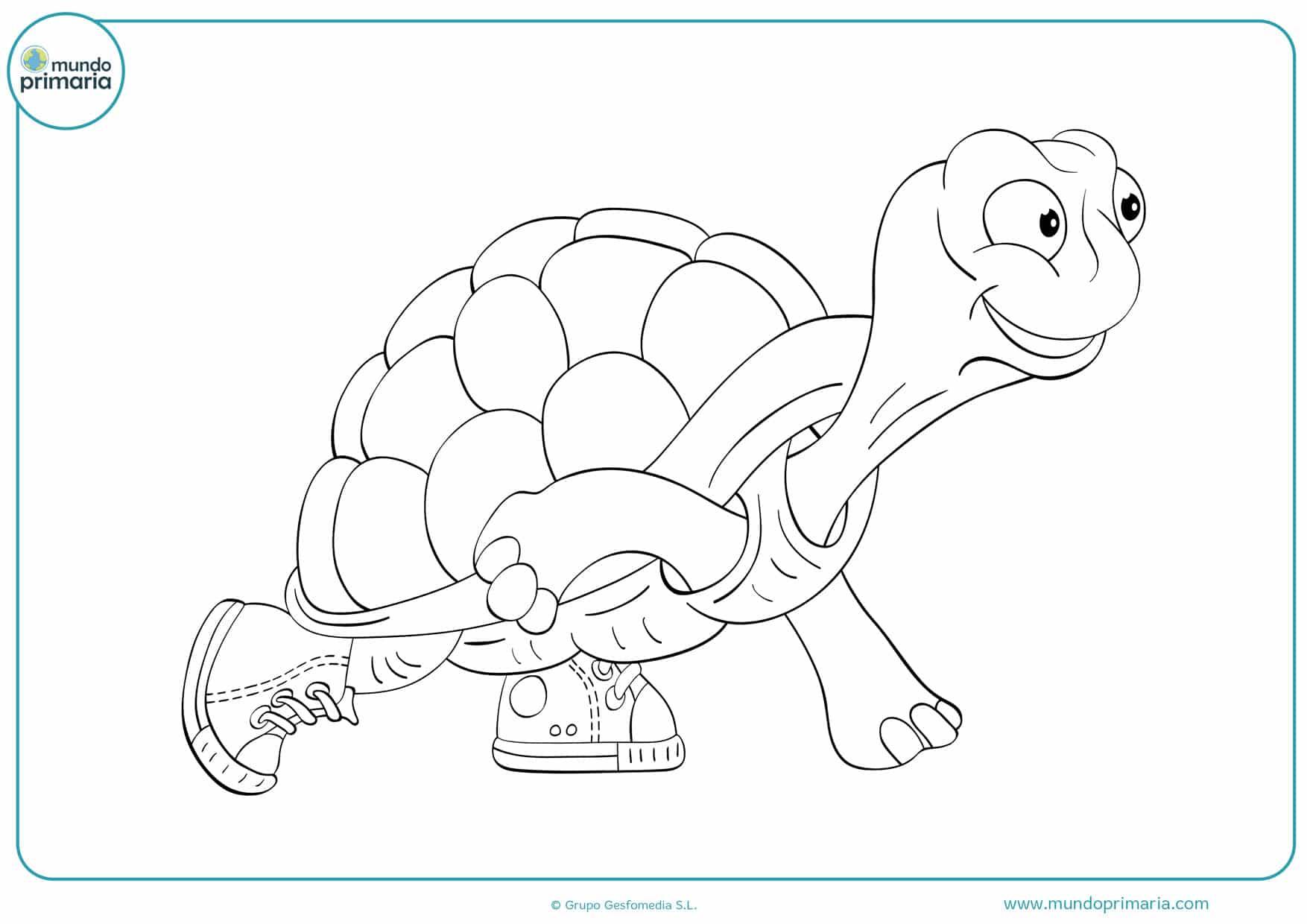dibujos infantiles para colorear de tortugas