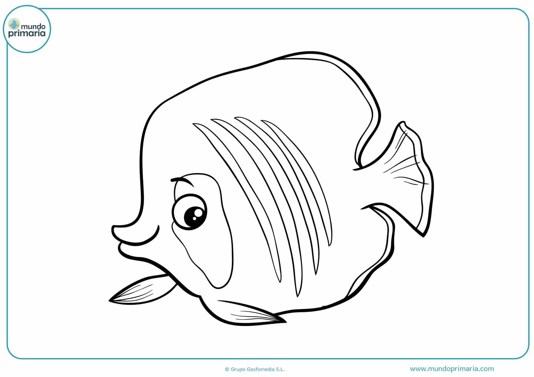 dibujos infantiles de peces para colorear