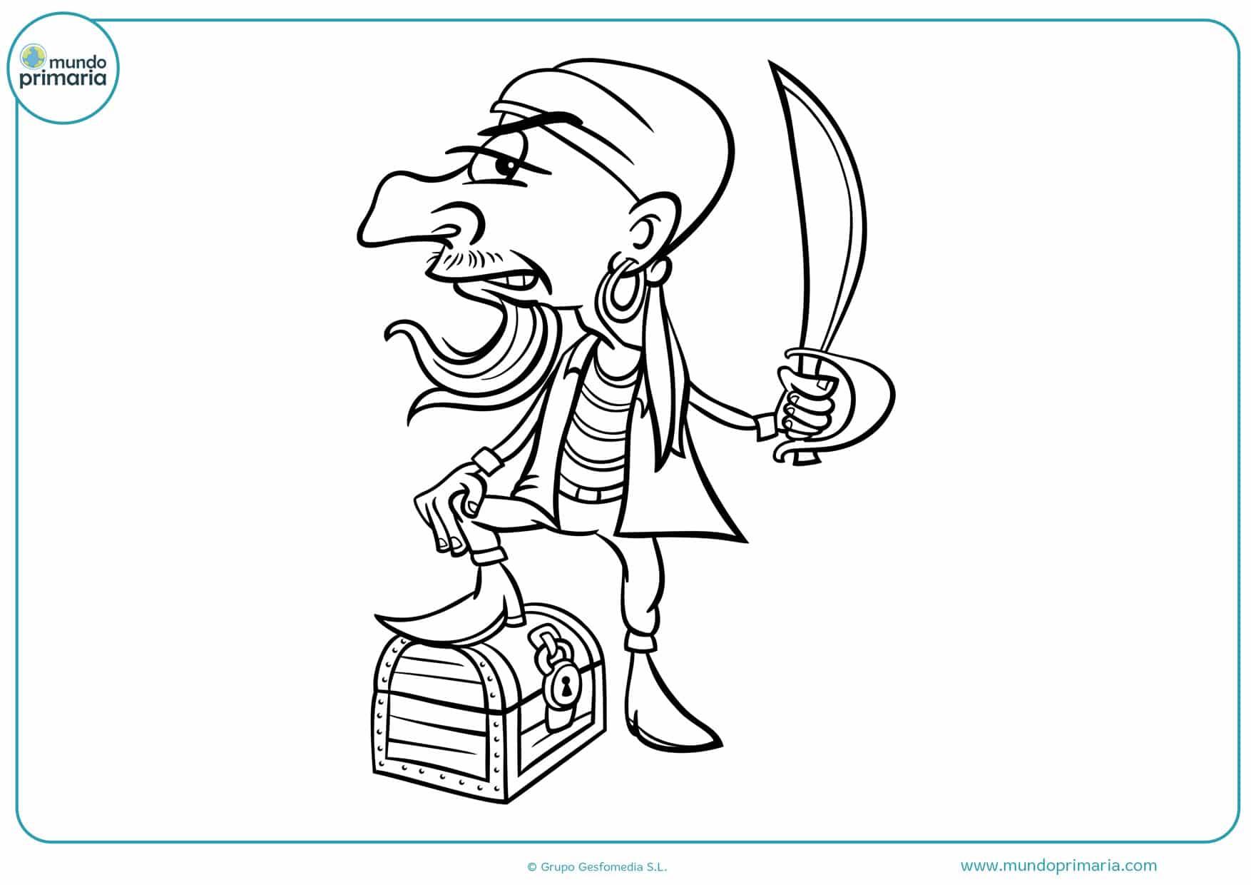 dibujos infantiles de piratas para colorear