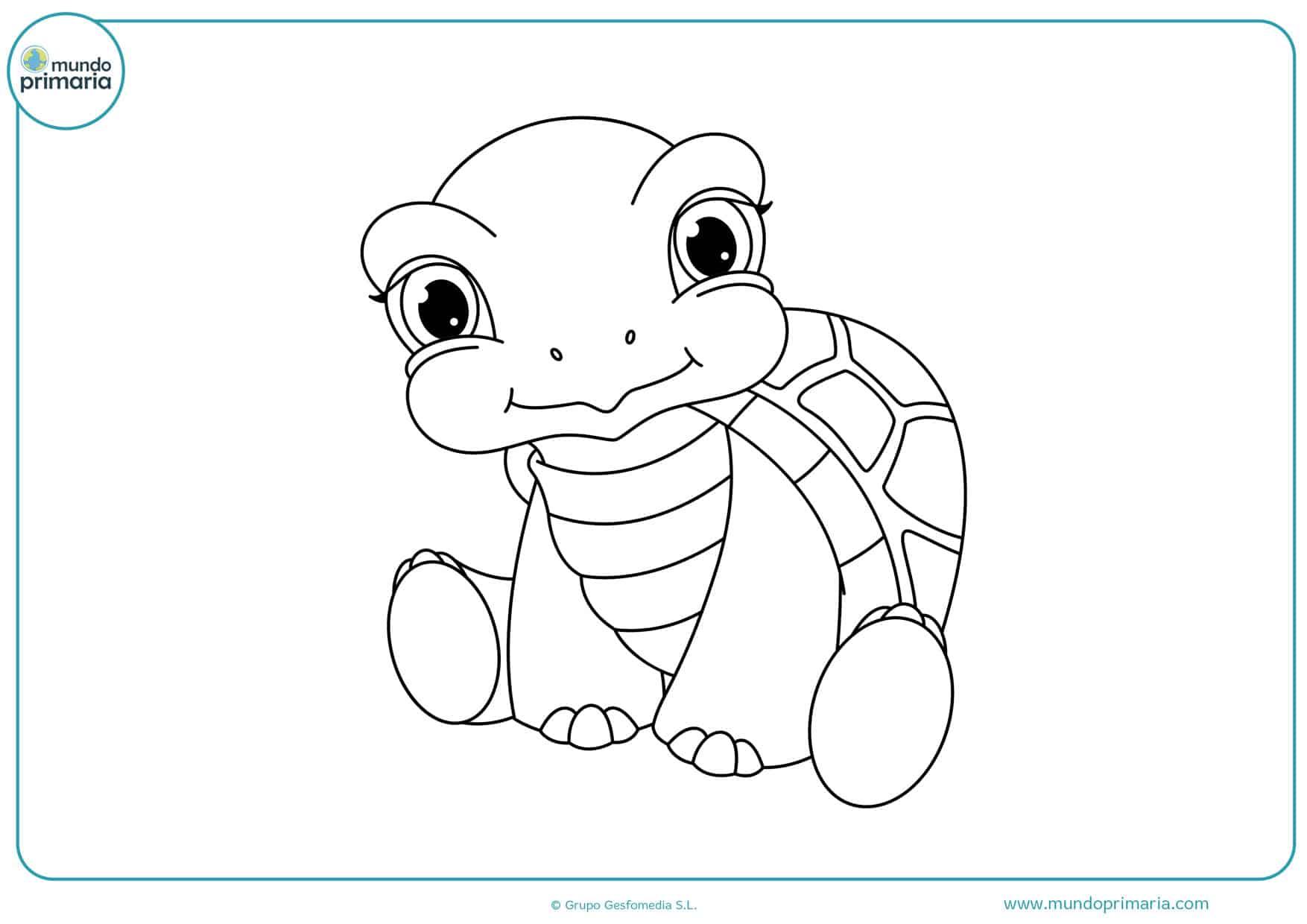 dibujos infantiles de tortugas para colorear